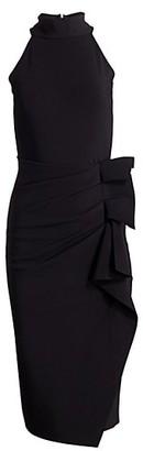Chiara Boni Halter Ruffle Midi Dress