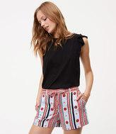 LOFT Petite Costa Tie Waist Fluid Shorts