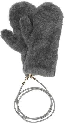 Max Mara Ombrato wool, alpaca and silk mittens