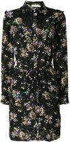 Coach dog and floral print shirt dress - women - Silk/Cotton/Nylon - 2
