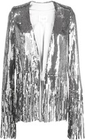Galvan sequinned fringed-hem jacket
