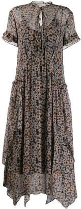 Coach Floral Print Midi Dress