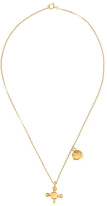 Alighieri The Memory and Disaster 24kt gold-plated necklace