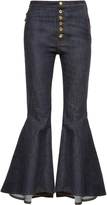 Ellery Hysteria high-rise ruffled-cuff jeans