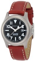 Momentum Women's 1M-SP01B3 Atlas Black Dial Brown Nautica Leather Watch
