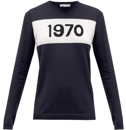 Bella Freud 1970 Cashmere Sweater - Womens - Navy