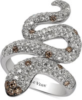 LeVian Le Vian Red Carpet® Chocolatier Diamond Snake Ring (1-7/8 ct. t.w.) in 14k White Gold