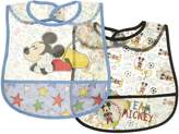Disney Mickey Mouse 2-Pack Bibs