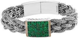 Effy 925 Emerald Sterling Silver & 18K Yellow Gold Bracelet
