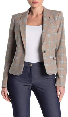 Tommy Hilfiger Plaid Notch Collar Blazer