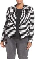 Tart Plus Size Women's 'Veronicka' Stripe Knit Open Front Jacket