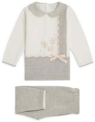 Bimbalo Knitted Floral Sweater and Leggings Set (1-24 Months)