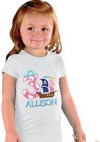 NanyCrafts Children's Pirate Birthday Girl PERSONALIZED Kids Shirts 7/8Y