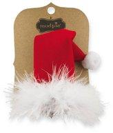Mud Pie Christmas Holiday Santa Baby Girl Velvet Santa Hat Hair Clip