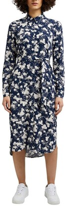 Esprit Printed Shirt Dress with Long Sleeves
