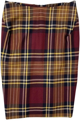 Vivienne Westwood Burgundy Wool Skirt for Women