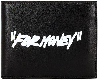 Off-White Quote Bifold Wallet in Black & White   FWRD
