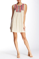 Max Studio Sleeveless Embroidered Dress