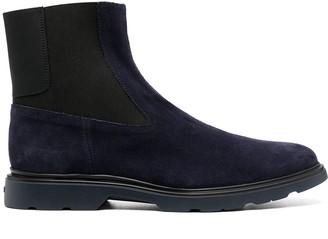 Hogan Slip-On Suede Boots