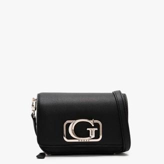 GUESS Annarita Black Textured Mini Cross Body Bag