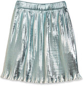 Little Marc Jacobs Metallic Plissé; Skirt, White, Size 6-10