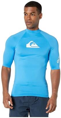 Quiksilver All Time Short Sleeve Rashguard (Blithe) Men's Swimwear