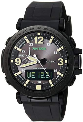 Casio Men's 'PRO TREK' Quartz Resin and Silicone Casual Watch