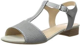 Caprice Women's 28100 Wedge Heels Sandals, Lt Blue Nubuc