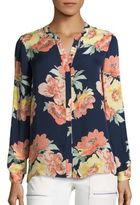 Joie Devitri Wildflower Silk Blouse