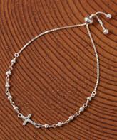 Silver Cross Yeidid International Women's Bracelets - Sterling Beaded Adjustable Bracelet