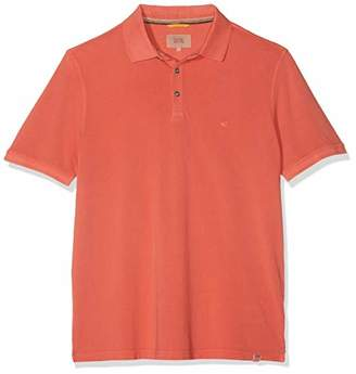Camel Active Men's Basic Polo Piqué 1/2 Shirt, (Blue Core 15), Large