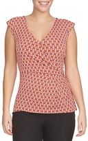 Chaus Harmony Aura Side Knot Wrap Top
