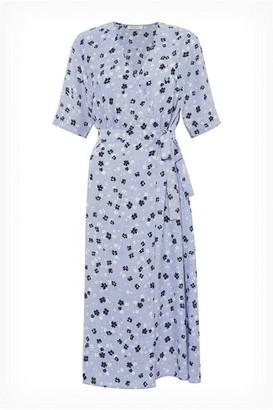 Great Plains Paris Flower V Neck Wrap Dress