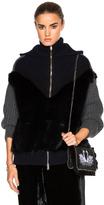 Stella McCartney Faux Fur Knit Jacket