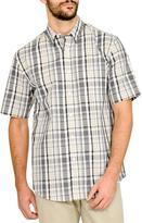 Haggar Men's Short Sleeve Plaid Shirt