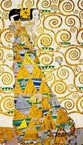 Gustav 1art1 Posters Klimt Poster Art Print - L attesa (32 x 24 inches)