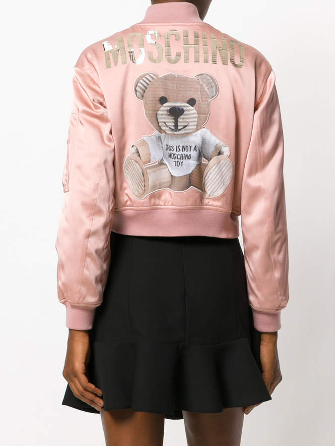 Moschino teddy bear logo bomber