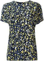 Cédric Charlier splatter print T-shirt - women - Silk - 40