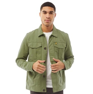 Lyle And Scott Vintage Mens Utility Jacket Lichen Green