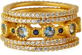 Freida Rothman Imperial Blue 5-Stack Ring, Size 6, 7 and 8