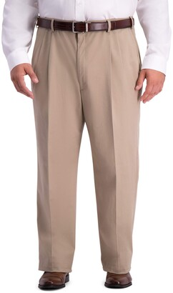 Haggar Men's Big and Tall B&T Work to Weekend PRO Relaxed Fit Pleat Front