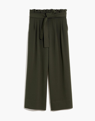 Madewell Petite Tie-Waist Huston Pull-On Crop Pants