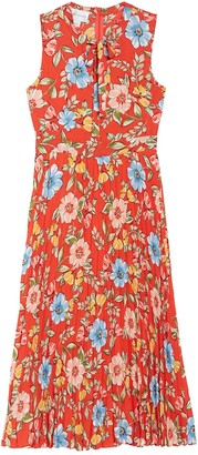 Donna Morgan Floral Sleeveless Pleated Midi Dress