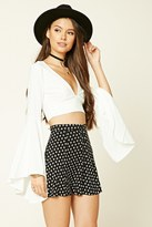 Forever 21 FOREVER 21+ Button-Down Floral Mini Skirt