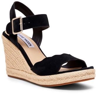 Steve Madden Women's Sandals BLACK - Black Mandii Suede Espadrille Wedge Platform Sandal - Women
