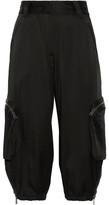 Fendi Cropped Satin Cargo Pants - Black