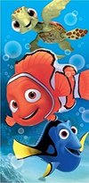Disney Finding Nemo, Dory, and Squirt Turtle Fiber Reactive Cotton Beach Towel 30x60 Inches