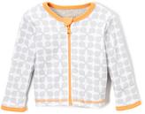 Boppy Heather Gray & White Jacks Reversible Zip-Up Cardigan - Infant