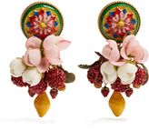 Dolce & Gabbana Daisy multi-charm drop earrings