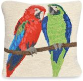 Liora Manné Frontporch Parrots Square Throw Pillow